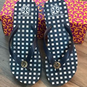 WORN ONCE Tory Burch Wedge Flip Flop